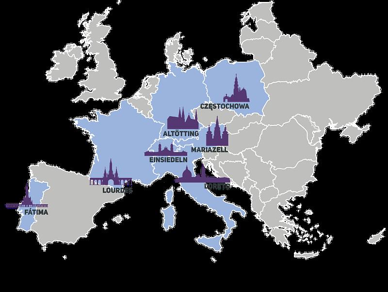 Mapa Shrines